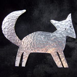 aluminium sheet fox broach by Caroline Kelley-Foreman