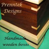 Prenntek Designs - handmade wooden jewellery boxes